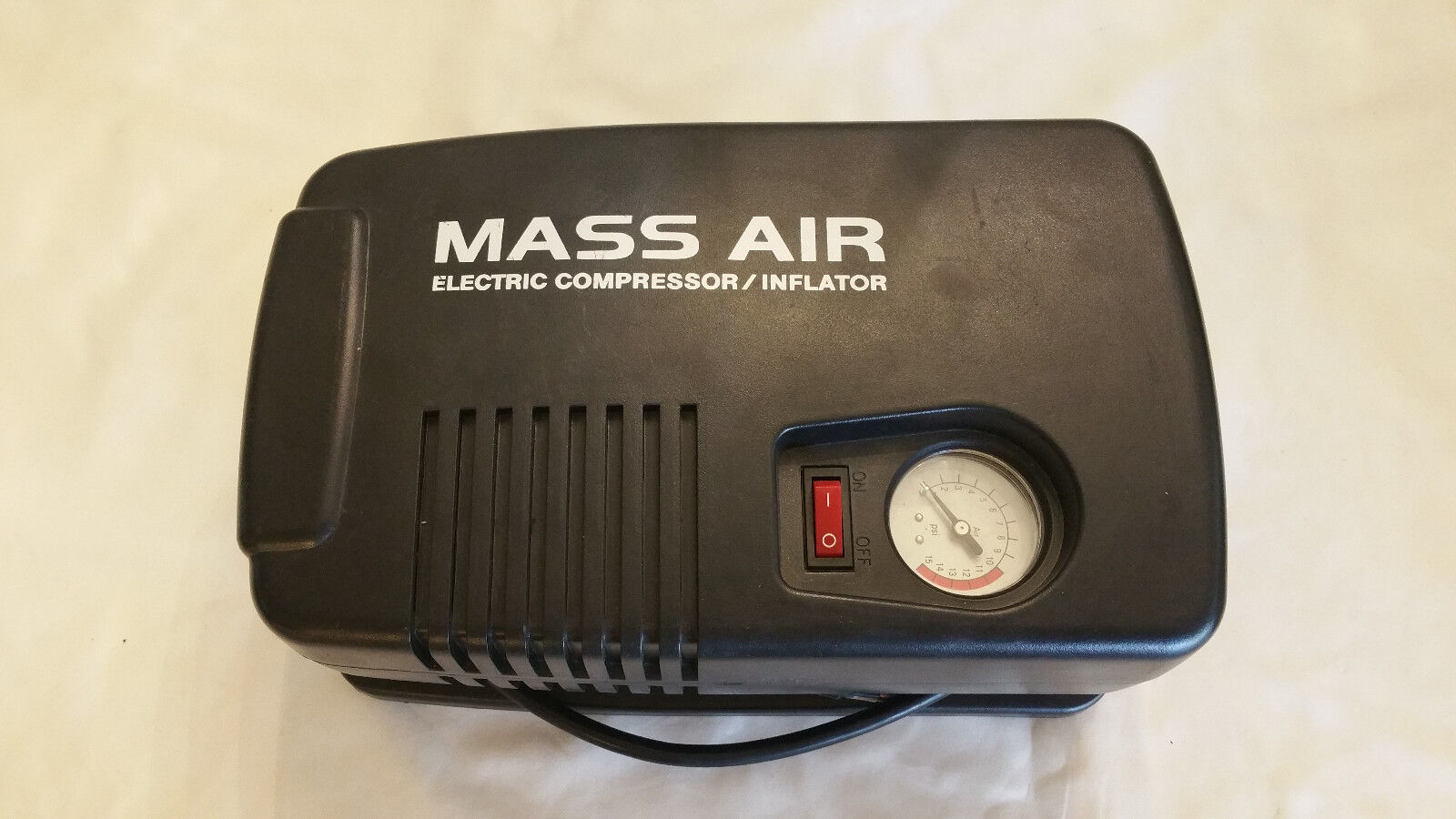 Mass Air Sports Ball Electric Compressor Inflator Model 2068,120V, 2Amp 15 PSI