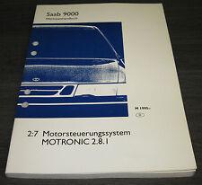 Werkstatthandbuch Saab 9000 Motorsteuerungssystem Motronic 2.8.I ab Baujahr 1995