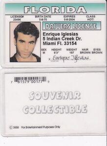 Enrique-Iglesias-Collectible-card-Drivers-License-fake-id-card