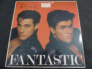 WHAM-Andrew-Ridgeley-signed-Autogramm-auf-034-FANTASTIC-034-Vinyl-Schallplatte-LOOK