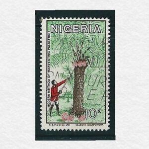 1986-nigeria Coconut Harvest 10 Kobo Timbre Utilisé Sg #ng 516-afficher Le Titre D'origine