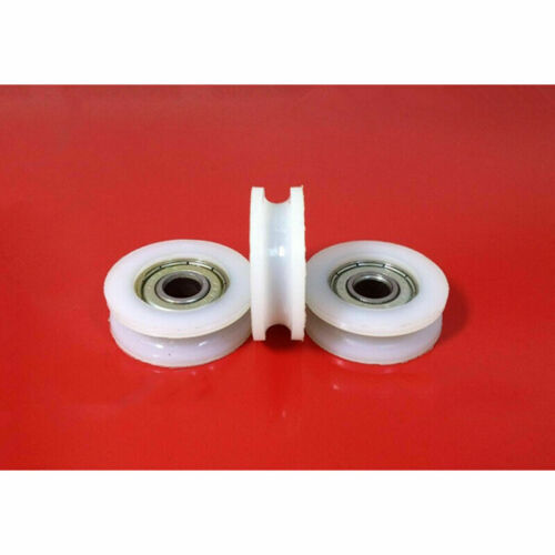 U//V Grooved Ball Bearing Wire Guide Roller Nylon Pulley Wheels Roller For Rope