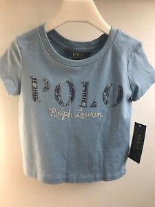 3b1d4cf68 Ralph Lauren Girls Polo Cotton Jersey Graphic Logo Tee T-shirt 3 3T ...