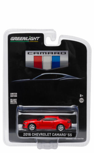 GREENLIGHT 2016 CHEVROLET CAMARO SS RED ALL NEW UNVEILING EDITION 1//64 CAR 29861