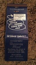Vintage Matchbook Cover Matchcover Gulliver's Queensway Motel Niagra Falls ONT
