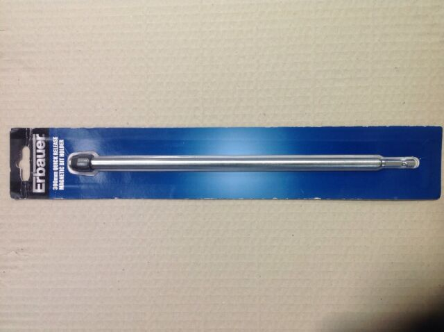 "Flat wood bit extension bar rod 300mm quick release chuck fit 1//4/"" hex shank bit"