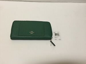 1a99d532 Details about Coach Women Accordion Crossgrain Leather Zip Around Wallet  F54007 $250