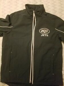 c301016a Details about New with tags Ny jets jacket NFL polyester shell. Mens size  medium.