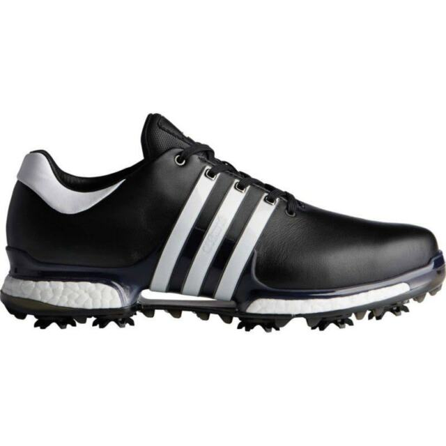 2ac072f6b7a0 adidas 2018 Tour 360 Boost 2.0 Mens Golf Shoes - Black white Wide 9 ...
