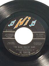 Al Green Here I Am / I'm Glad You're Mine 45 Record 1973 HI 2247