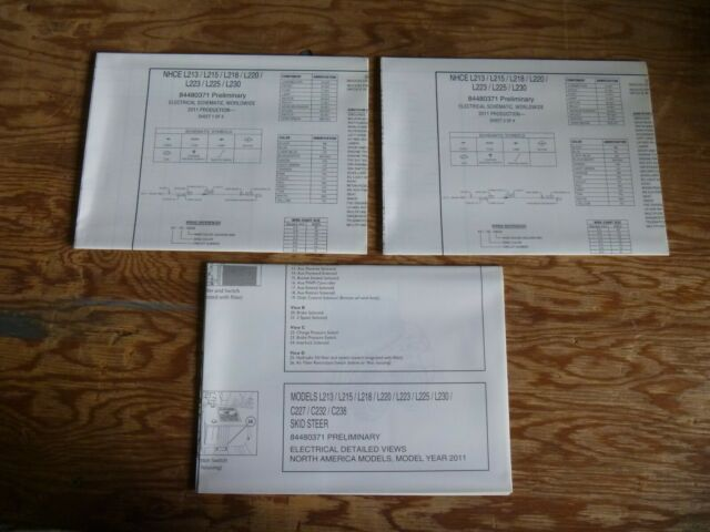 2011 New Holland L223 L225 L230 Skid Steer Electrical Wiring Diagrams Manual