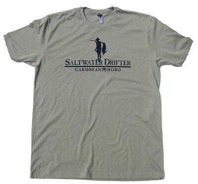Caribbean Hobo T-shirt Saltwater Drifter man Key West Havana Cabo fishing fish
