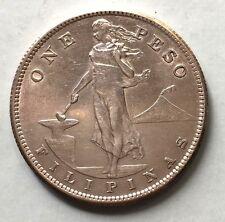1907 S Filipinos One Peso Silver Coin