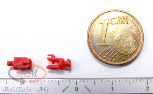 30 x ALBEDO Ersatzteil Ladegut Anhänger-Kupplung Maulkupplung rot H0 1:87-0197