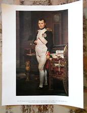 Print-'Napoleon' {Jacques-Louis David} Canvas, National Gallery of Art No. 1374