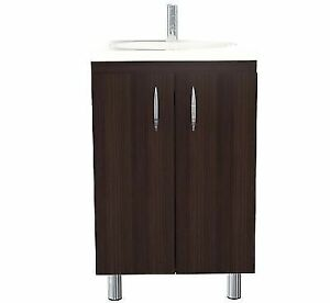 Bathroom Vanity Cabinet And Sink Combo Small 18 Inch Modern Espresso