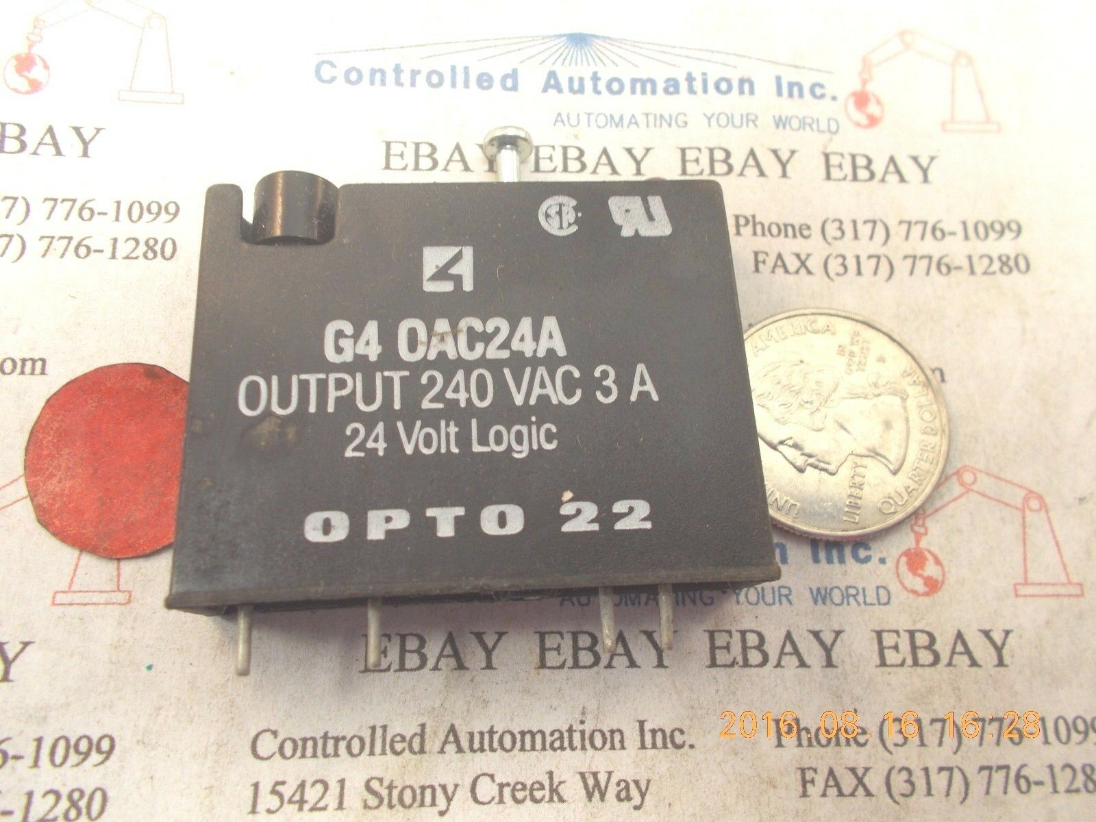 Opto 22 G40ac24a Relay Solid State Ebay Norton Secured Powered By Verisign