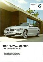 BMW 4er CABRIO F33 Betriebsanleitung 2016 Bedienungsanleitung  Cabriolet BA