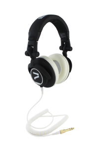 7even-Headphone-black-white-Dj-Hifi-Sport-Kopfhoerer-dreh-klappbar-tauschba