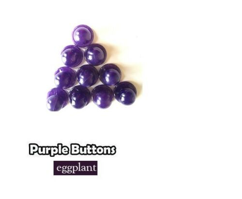 Chef Jacket Buttons 10 Buttons pack Purple Eggplant