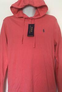 230d3e1e7 Polo Ralph Lauren Men's Jersey Tee Shirt Hoodie~Hyannis Red~LS~Size ...
