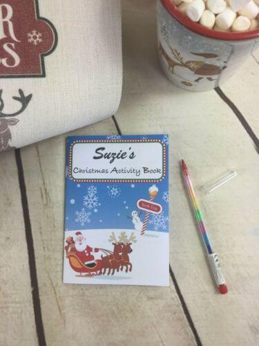 Noël Puzzles Veille de Noël Boîte de comblement Livre de coloriage Activité Pack pour enfants