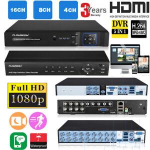 FLOUREON 8CH 1080P 1080N HDMI CCTV Security Video Recorder Cloud DVR USB