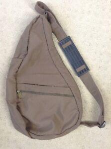 Ameribag Small Tan Brown Nylon Healthy Back Bag Shoulder