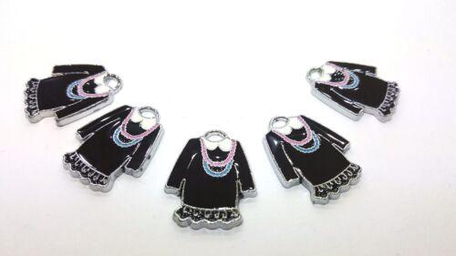 5 piezas vestido de aleación de Zinc Esmalte encanto Colgantes-A0446