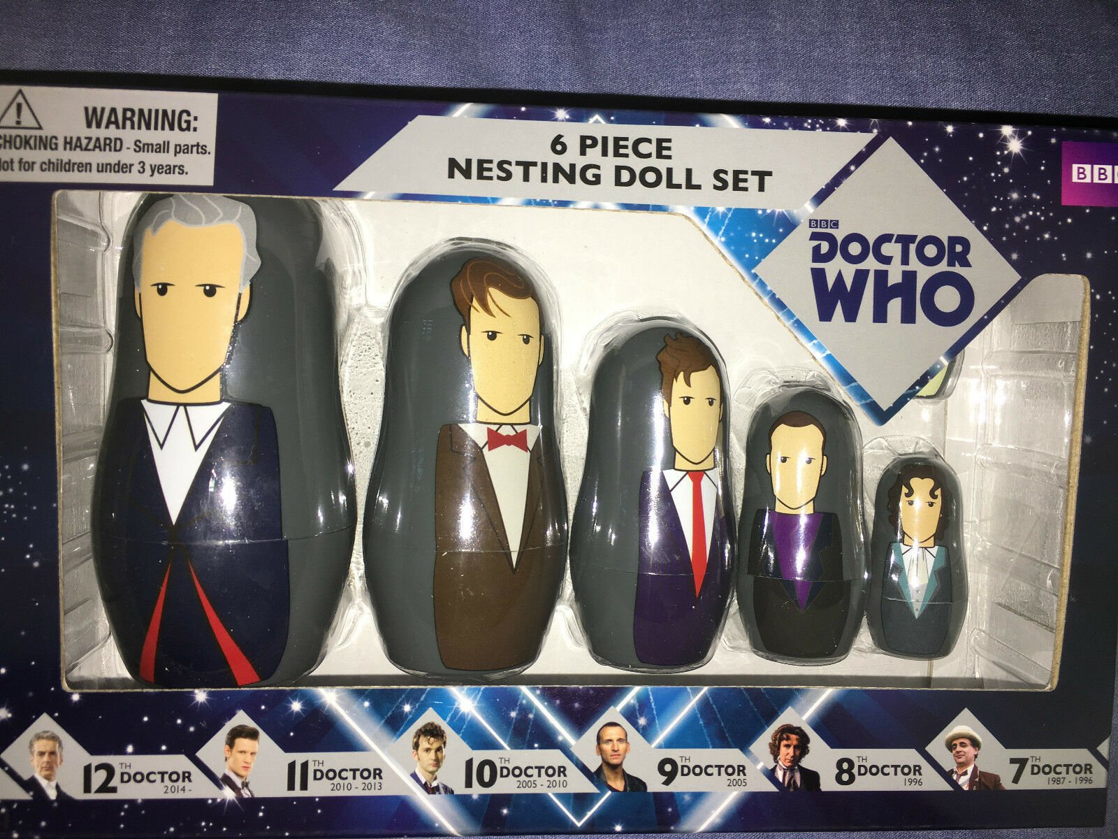 Doctor Who 7th to 12th doctors doctors doctors  nesting doll set a338e7