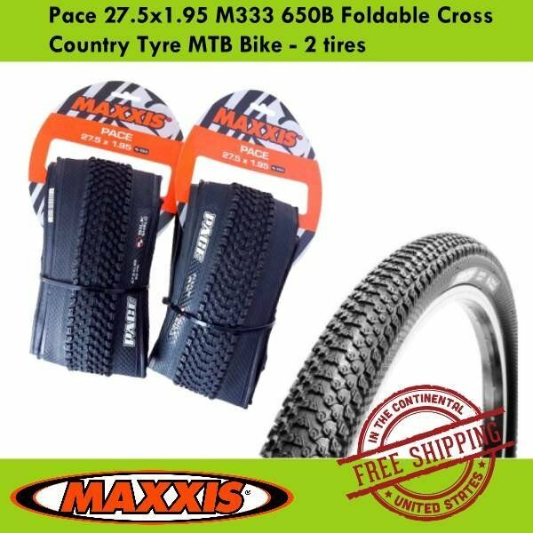 Maxxis Pace 27.5x1.95 M333 650B Foldable Cross Country Tyre MTB Bike - 2 tires