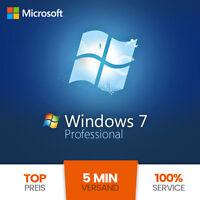 Microsoft Windows 7 Professional 32/64 Bit Win Pro Original Key Genuine
