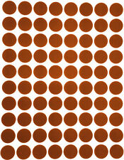 Brown Dot Stickers In Various Sizes 8mm 38mm Color Coding Label In 15 Sheets