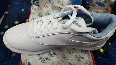 Womens  Dexter Raquel IV Bowling Shoes White Blue Size 9 1//2