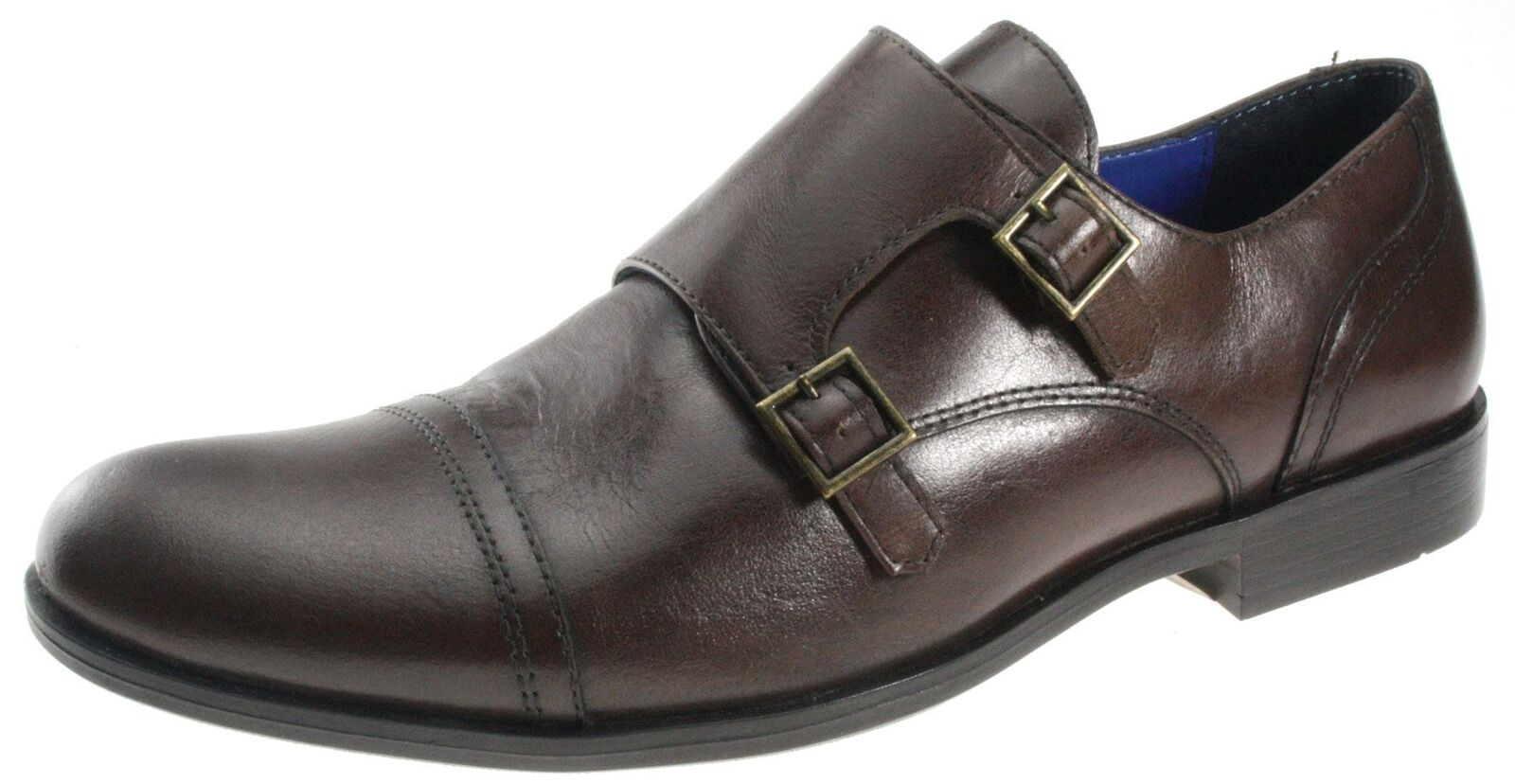 Red Tape Grange Brown Buckle Leather Mens shoes Monk Formal