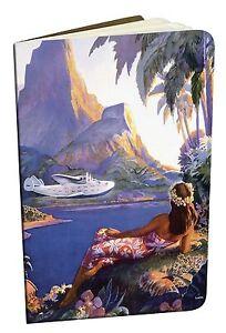 Vintage-PAN-AM-Hawaiian-Art-Mini-Notebooks-SET-OF-2-South-Seas-Isles-HULA-GIRL