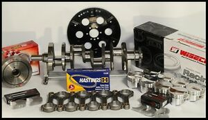 BBC-454-ROTATING-ASSEMBLY-SCAT-CRANK-amp-WISECO-FORGED-PISTONS-454-25cc-4-280-2pc