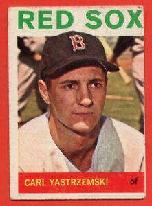 1964 Topps #210 Carl Yastrzemski VG-VGEX MARKED Boston Red Sox HOF FREE SHIPPING