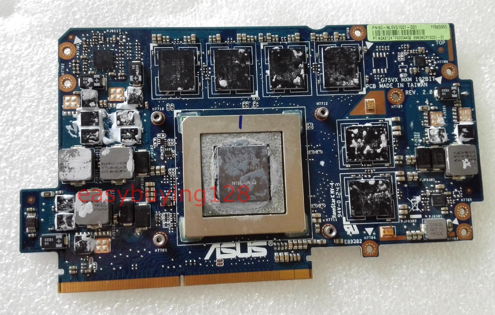 Fit Asus G75VX Laptop GTX 670M DDR5 VGA V3G Video card Graphic Card USA