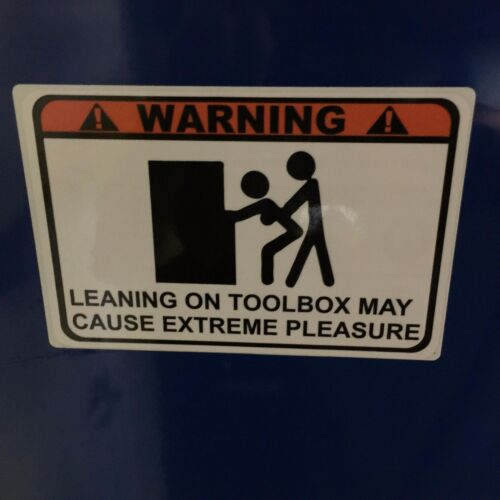 Warning Leaning overlay decal snap on wrench rachet screwdriver impact