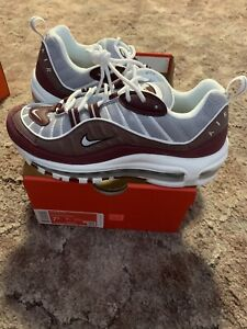 Details about Nike Air Max 98 Womens Plum Wolf Grey Size 7.5 NEW