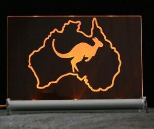 Australien-LED-Gravurschild-Leuchtschild-Valentinstag-Geschenk