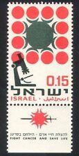 Israel 1966 Cancer/Medical/Health/Welfare/Microscope 1v + tab (n39375)