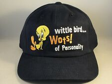 Tweety Bird Vintage Warner Bros Adjustable Strap Hat Cap Blue