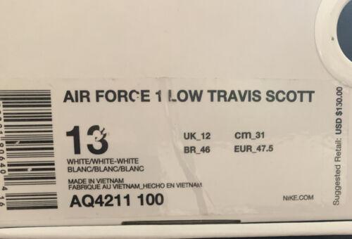 Travis Scott Air Force 1 'Travis Scott' Size 13 [