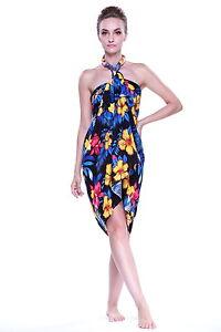 Jumbo Plus Size Tropical Cruise Beach Luau Sarong Wrap Dress Pareo ...