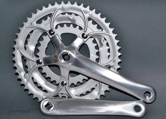 Rennrad KRG Kurbelgarnitur 3-fach Aluminium silber 30 /42 / 52 Racing