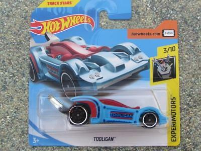 Hot Wheels 2018 #075//365 THE EMBOSSER blue and yellow Experimotors