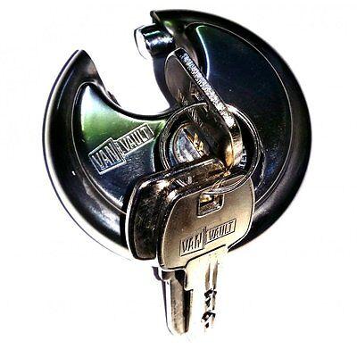 Lock Security Round Disc Vanvault S10029 Heavy Duty Padlock 3 Keys 70mm Secure