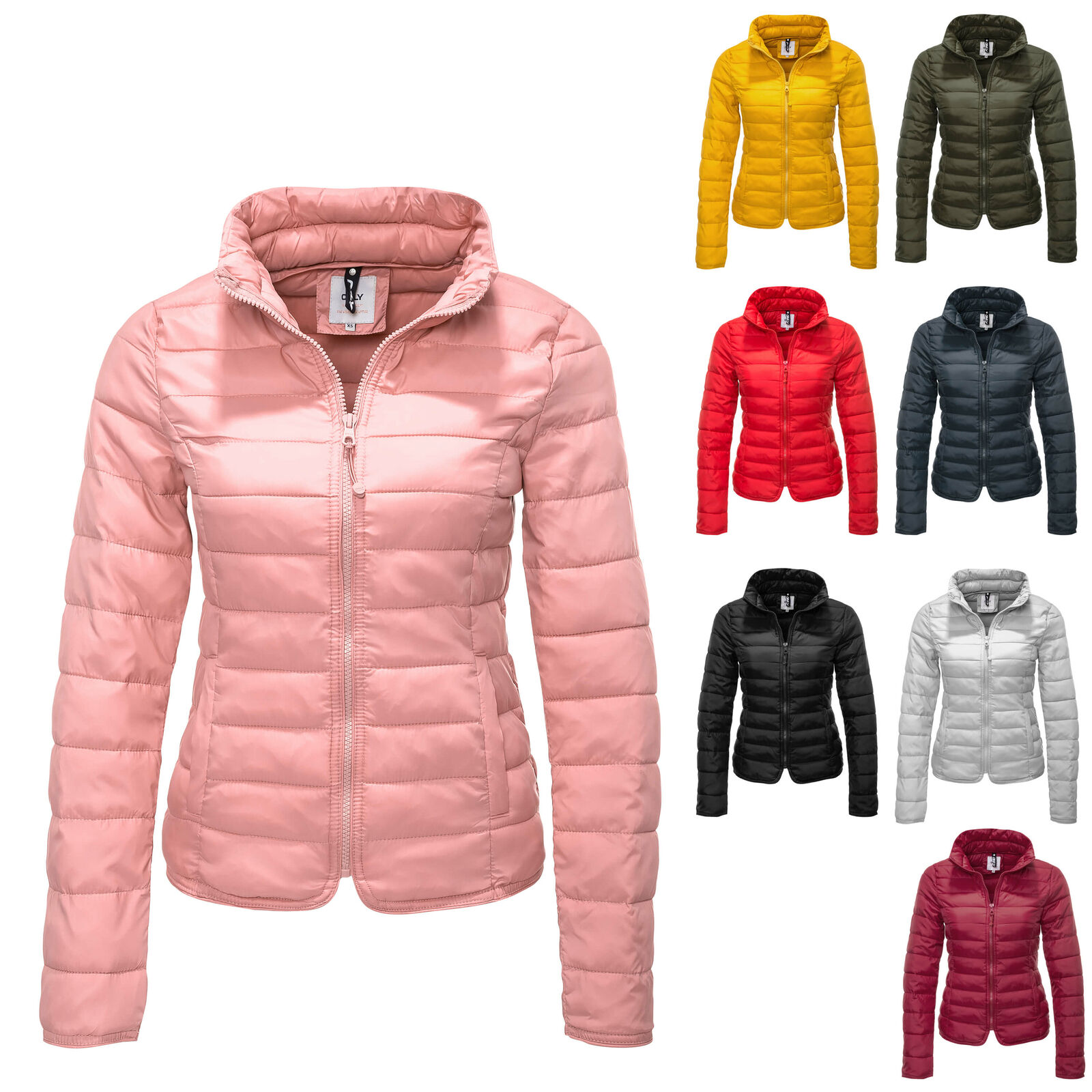 new concept b6613 8f9ad Only damen Steppjacke herrentel Jacke Nylon Leichte ...